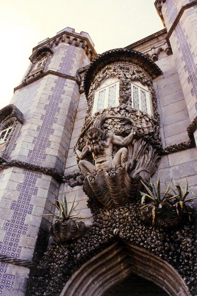 A part of the Palacio da Pena Palace, Portugal
