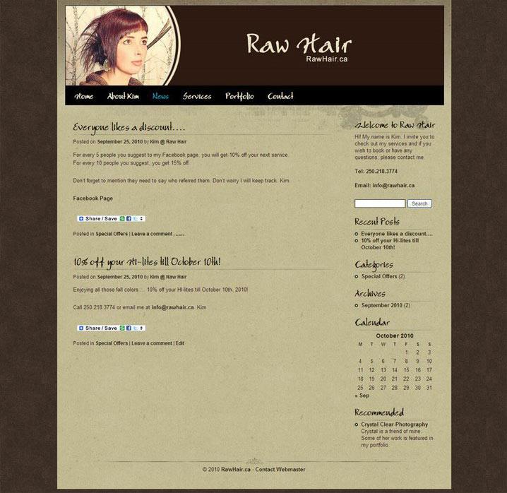 Raw Hair - Cumberland, BC, Canada